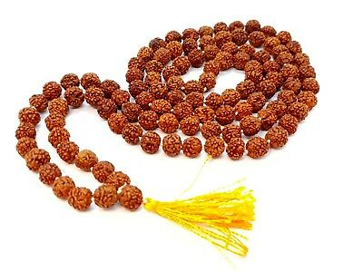 Rudraksha Mala For Men And Women Good For Wearing In Offices Also Simple And Basic Mala For Daily Use Rudraksha Original Mala Made Of 5 Mukhi Rudraksha Beads