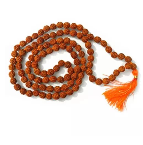 "LAB CERTIFIED 7 MUKHI RUDRAKSHA MALA 7 Mukhi Rudraksha is considered to be representative of Goddess Lakshmi, the goddess of wealth as well as in some ancient texts it is also representative of God Kamdeva. No. of beads: 108+1 Face - All 7 Mukhi beads Size: Approx 7 mm Height: 45 cms (18 inch) approx Origin: Java This Rudraksha rosary is specially useful for earning wealth as it represents Goddess Lakshmi. It gives prosperity and happiness to the person wearing 7 mukhi Rudraksha Mala. This Mala is useful for chanting Mantras of Goddess Lakshmi for wealth. It is also recommended for any sexual, heart problems and throat diseases. सात मुखी रुद्राक्ष को कामदेव का रूप माना गया है। जो जातक शनि की साढ़ेसाती या शनि की महादशा से प्रभावित हैं उनके लिए यह रुद्राक्ष बेहद उपयोगी है। Mantra: ""ऊँ हुं नम:"" (Om Hum Namah)"