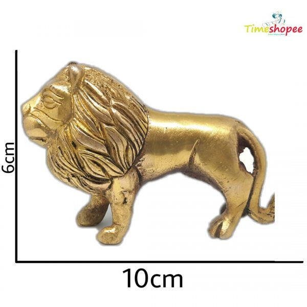 Brass Lion Statue For Office Vastu