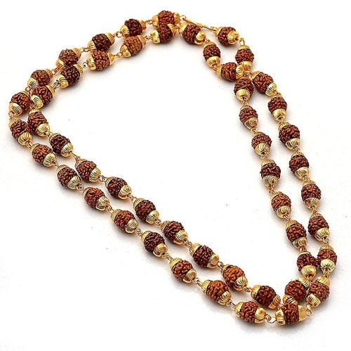 RUDRAKSHA MALA (GOLD PLATED - 54+1 BEADS)
