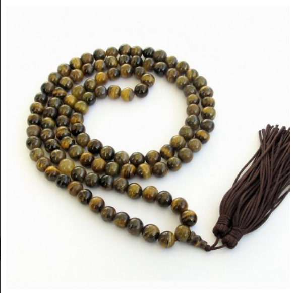 TIGER EYE ROSARY MEDITATION 108 JAPA MALA