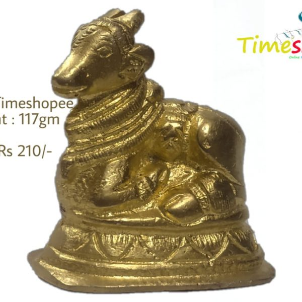 Brass Shiv Parvati Vehicle Bull Statue Shiva Devotee Nandi Seated Sculpture By Timeshopee