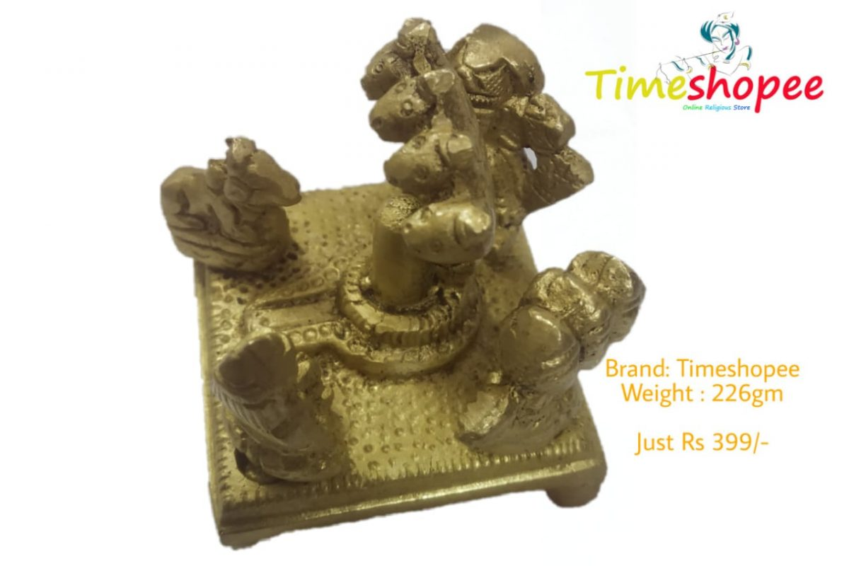 Brass Shivling Statue fo Home Temple By Timeshopee