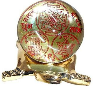 Brass and Crystal Made Yantra 1