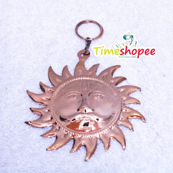 Metal Handmade Decorative Wall Hanging Sun Idol Face for Home Copper