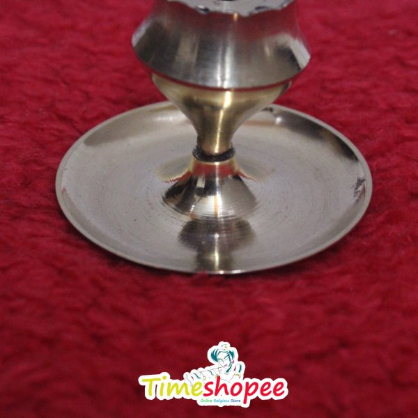 2 pcs Small Size Flower Base Brass Agarbatti Stand