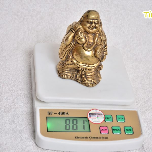 Laughing Buddha with Back Potli for Health Wealth and Happiness By Timeshopee