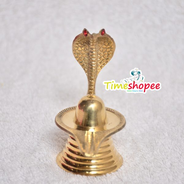 Brass Shivling with Nag Devta By Timeshopee