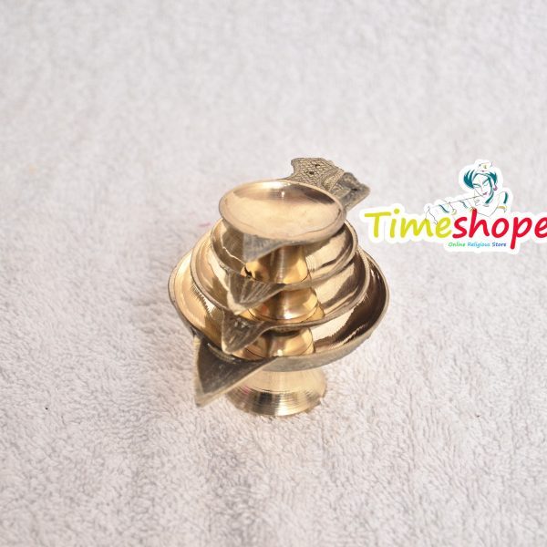 Handmade Indian Brass Oil Puja Lamp - Diya for Pooja Room Decoration Tea Lights Candle By Timeshopee