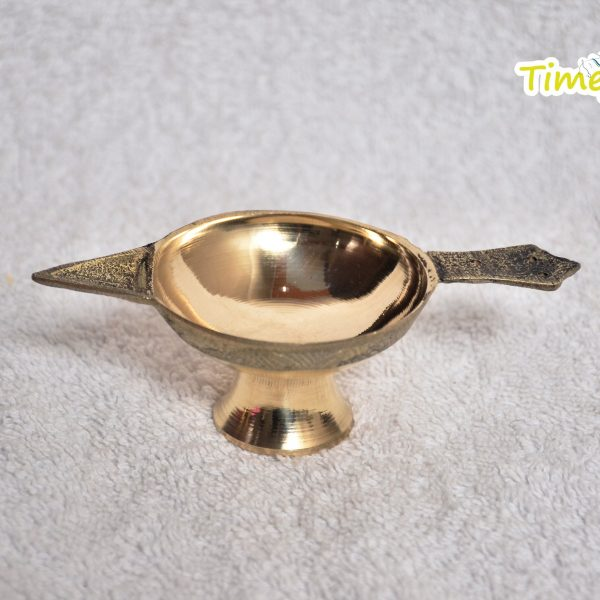 Handmade Indian Brass Oil Puja Lamp - Diya for Pooja Room Decoration By Timeshopee