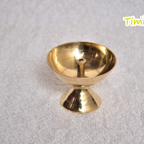 Brass Metal Jyot/Oil Lamp Diya (Golden) By Timeshopee