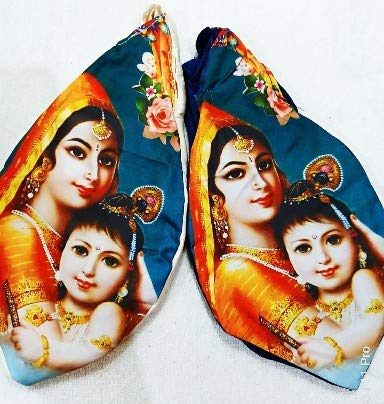 Bal Krishna with Yashoda Japa  Bag Chanting Bag Gomukhi Bag