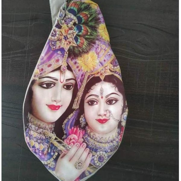Gomukhi Japa Bag Digital Printed Radha Ji And Kanha Ji