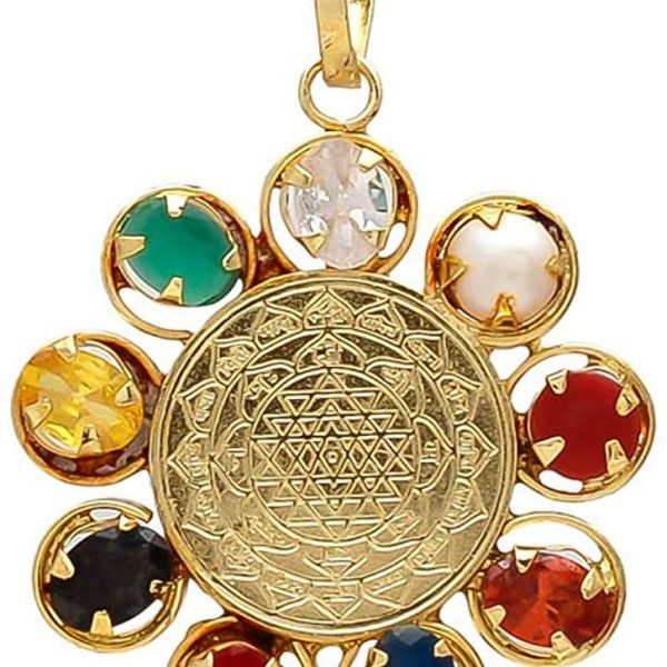 Shriyantra Navratna Navgraha Locket By Timeshopee