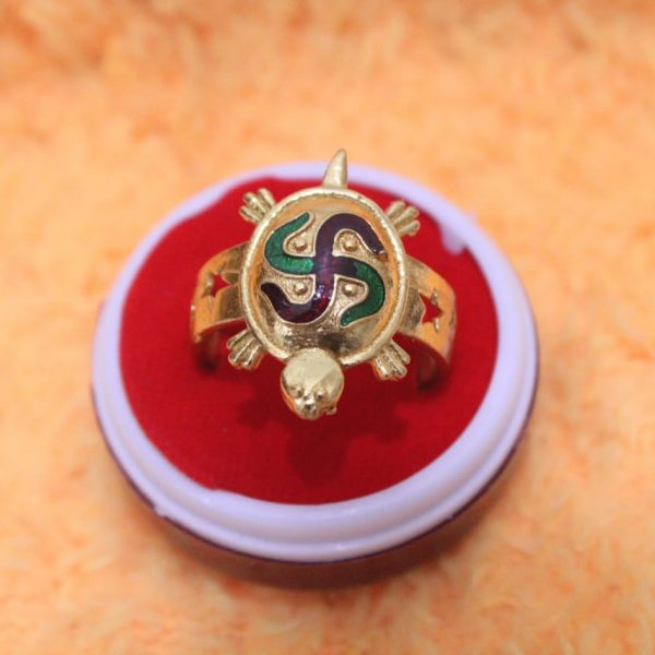 Swastik Tortoise Ring By Timeshopee