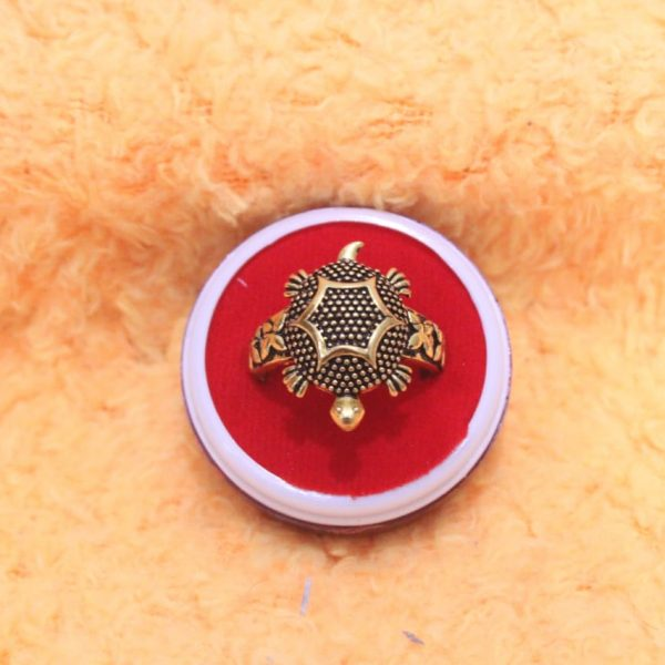 Dotted Kachua Tortoise Finger Ring By Timeshopee