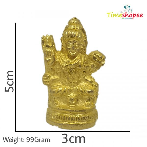 Brass Hindu God Lord Shiva in Meditation Statue (Golden) By Timeshopee