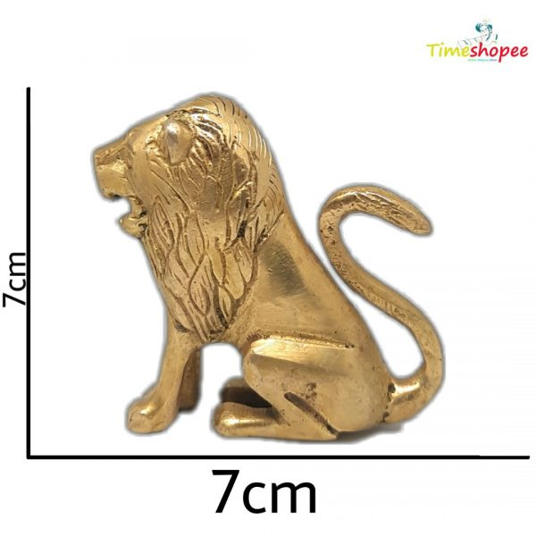 Vastu Remedy Brass Lion Statue in Golden Colour