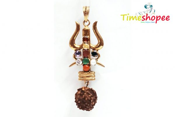 Golden and Brown Gold Plated Brass Pendant