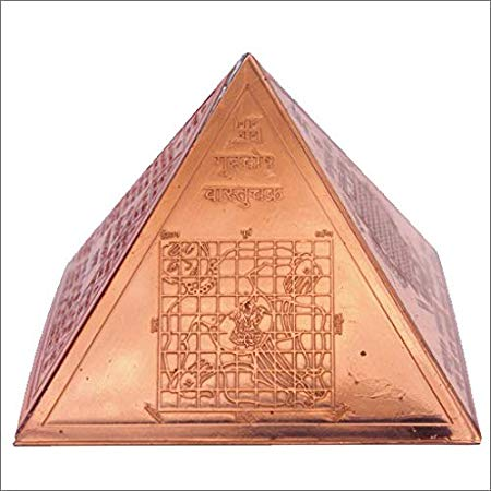 Copper Vastu Pyramid Yantra 3 inch By Timeshopee