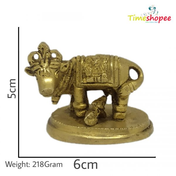 Cow Kamdhenu Cow and Calf Brass