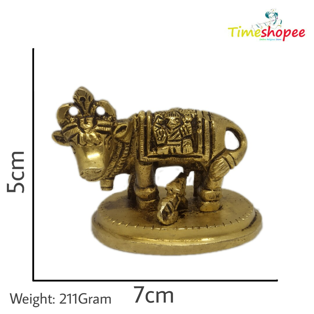 Cow and Calf Metal Statue