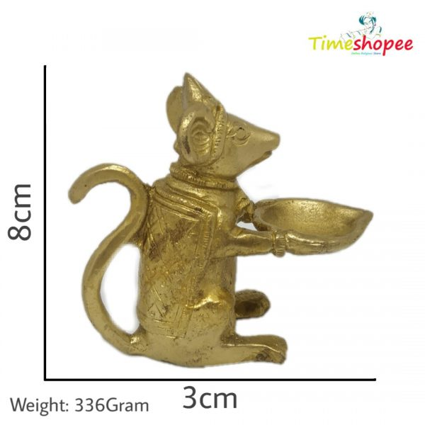 Brass Ganesha Mouse Rat