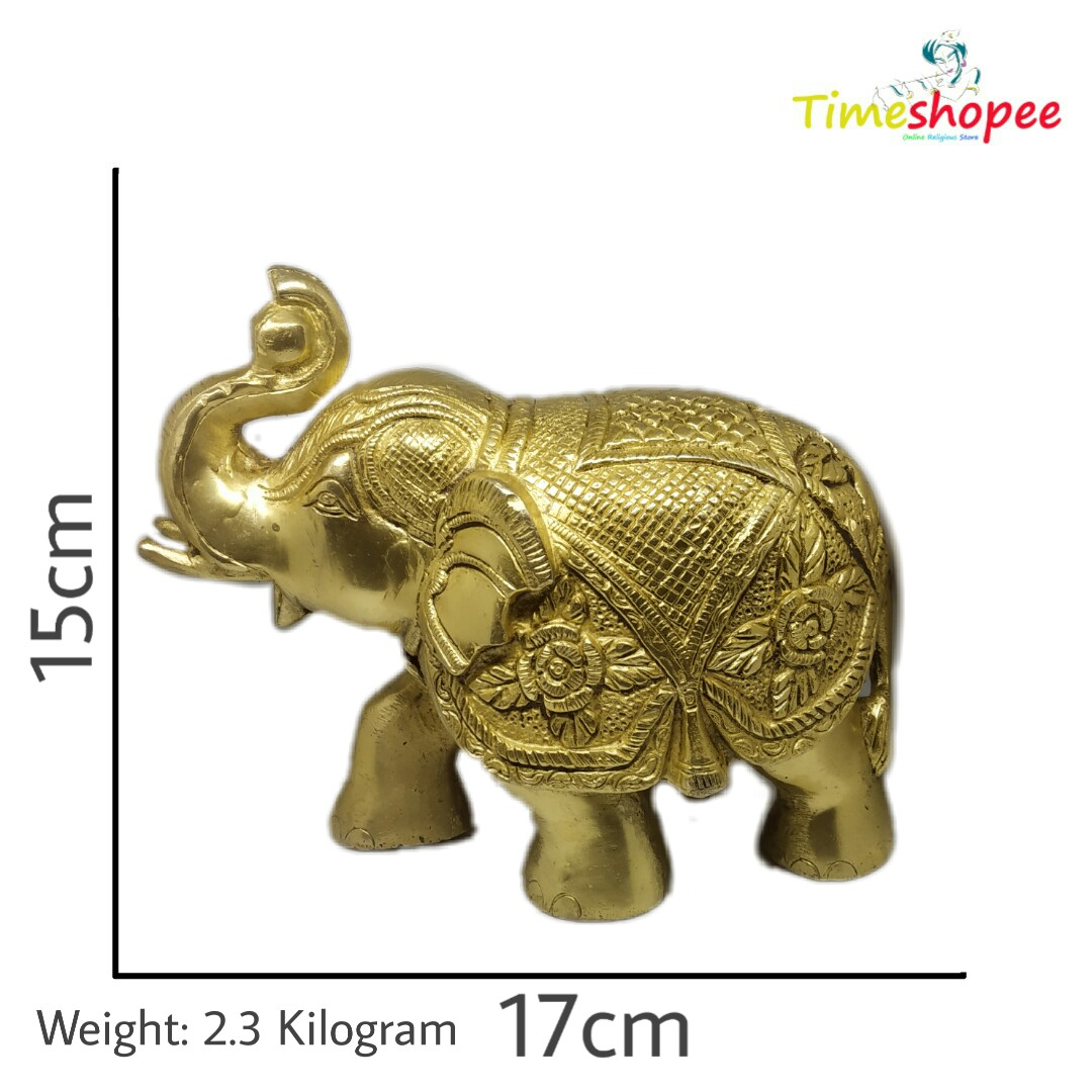 Large Elephant Statue Sculpture By Timeshopee