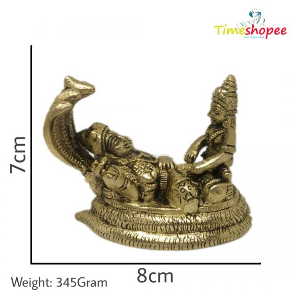 Brass Idol of Lord Vishnu Laxmi