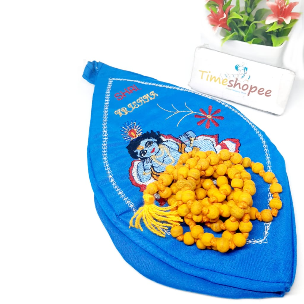 Combo Of Gomukhi Bag /Krishna Gaumukhi With HALDI MALA
