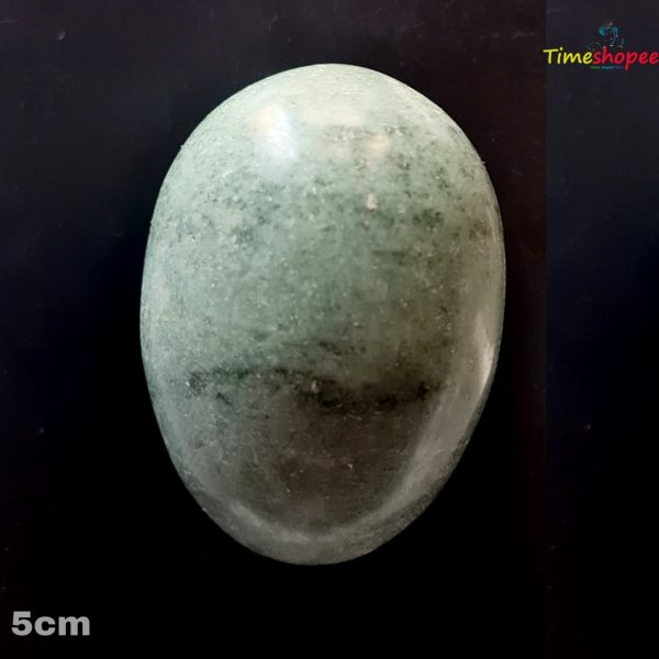 Natural Green & Black Marble Stone Shivling Stone By Timeshopee