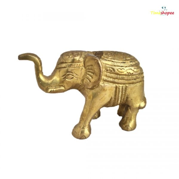 Metal Small Elephant Statue Sculpture By Timeshopee