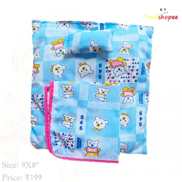 Laddu Gopal Puffed Bedsheet With Pillow And Blanket By Timeshopee